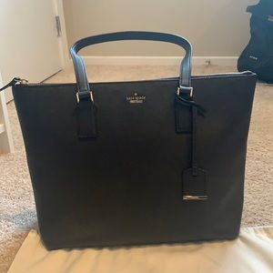 Great Condition Kate Spade Black Zippered Tote